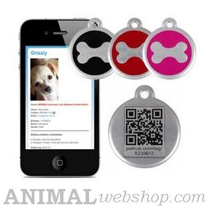 hondenpenningen QR QRtag bij AnimalWebshop