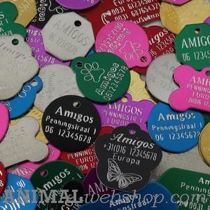 Standaard Hondenpenningen bij AnimalWebshop.com met naam