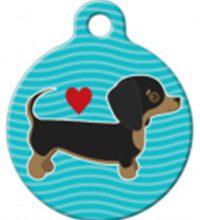 Rashond teckel hondenpenning bij Hondenpenning.net HETDIER.nl Amigos