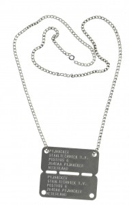legerplaatje Dutch army dog tags bij AnimalWebshop ID tag Dutch tag met ketting licht