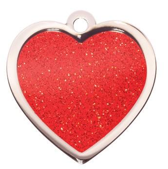Heart rood Bowwow meow hondenmedaillon Animalwebshop